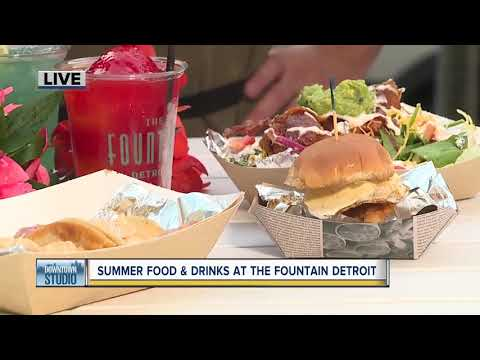 Summer food and drinks at the Fountain Detroit