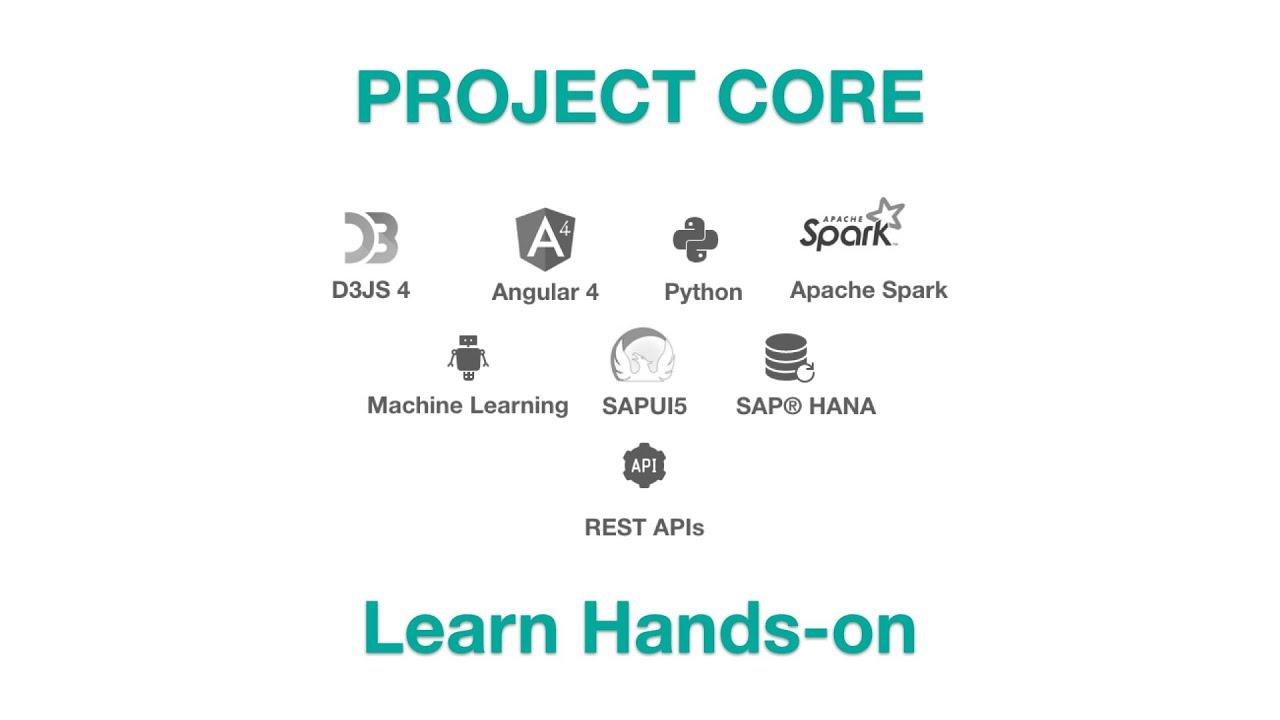 Project CORE - Learn Machine Learning, Hadoop Spark, SAP® HANA®, Angular 4,  SAP® MRP and SAPUI5