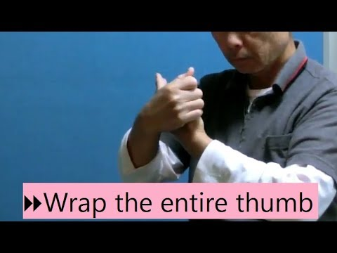 Digest:  Wrap the entire thumb with the other hand (#Feldenkrais ATM)