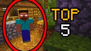 TOP 5 SEEDS MAIS ASSOMBRADAS DO MINECRAFT !