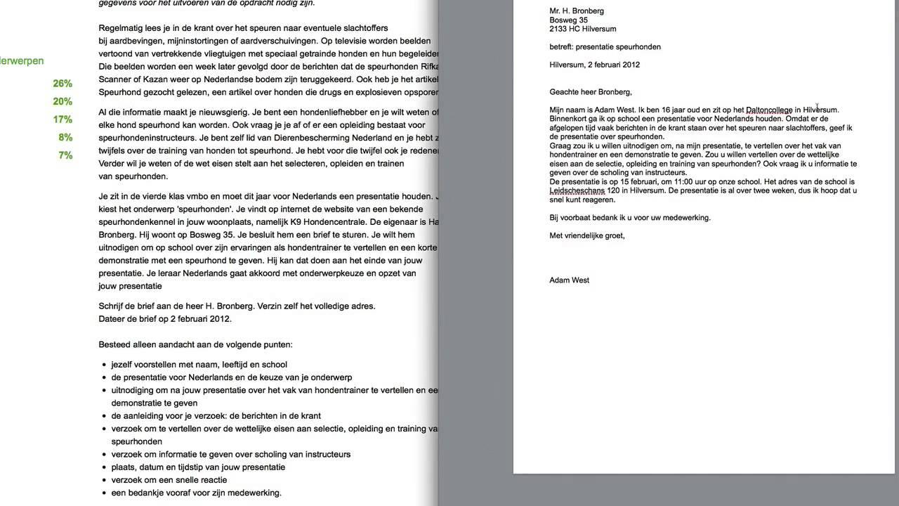 voorbeeld zakelijke brief nederlands vmbo Zakelijke Brief Schrijven Nederlands Examen | hetmakershuis