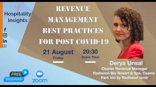 Revenue Management Best Practices in Post COVID | Derya Unsal
