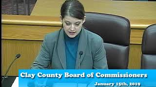 B190115A - 1/15/19 - Clay County MN Board of Commissioners