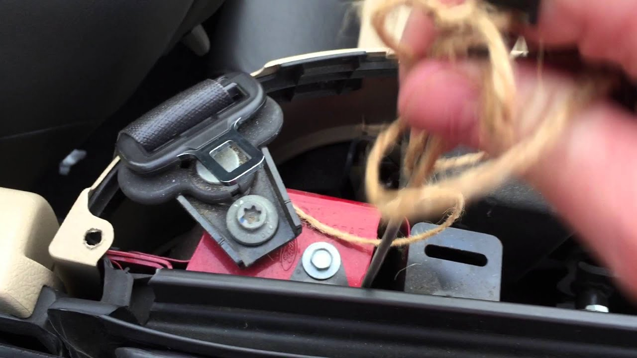 05 09 Mustang Convertible How To Unplug Rear Drain Hole