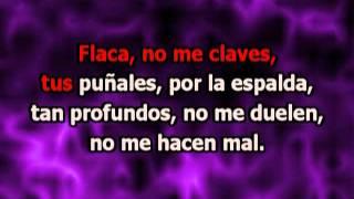 Andrés Calamaro - Flaca (con letra karaoke)