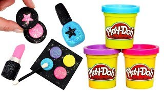Play Doh Makeup How to Make Eyeshadow Lipstick Nail Polish with Play Doh Creative Fun for Kids