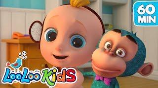 Five Little Monkeys - LooLooKids Nursery Rhymes & Kids Songs