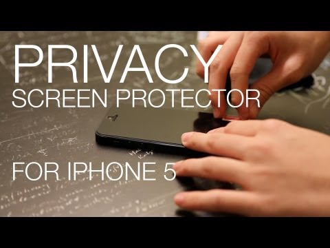 Privacy Screen Protector for iPhone 5 - Block Off Intruders!!