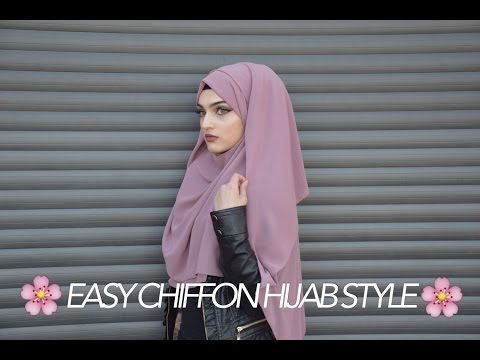EASY CHIFFON HIJAB TUTORIAL | BACK + CHEST COVERAGE | Sarina
