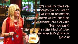 Hannah Montana Forever - LOVE THAT LET'S GO [Featuring Billy Ray Cyrus] lyrics