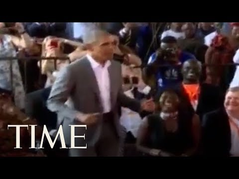 Barack Obama ed Off His Dancing Moves With His 96YearOld StepGrandmother  TIME