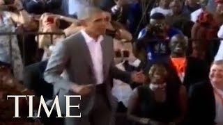 Barack Obama Showed Off His Dancing Moves With His 96-Year-Old Step-Grandmother | TIME