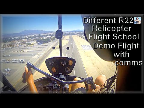 6th school R22 Helicopter training/instruction demo flight-start up/hover practice etc..