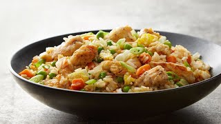 HOT PLATE | Preparing Delicious Fried Rice Chicken