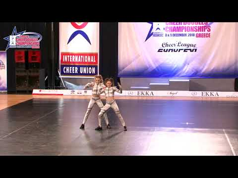 129 JUNIOR DOUBLE CHEER HIP HOP Hanzha   Fedorova  FIGHT  UKRAINE