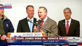 """MUST WATCH: Roy Moore Says, """"It's Not Over Yet"""" On Alabama Senate Race (FNN)"""