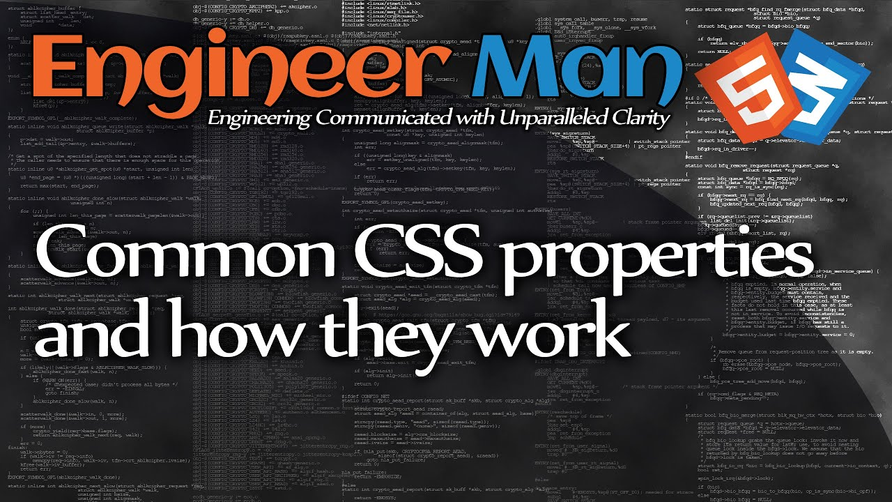 Common CSS properties and how they work