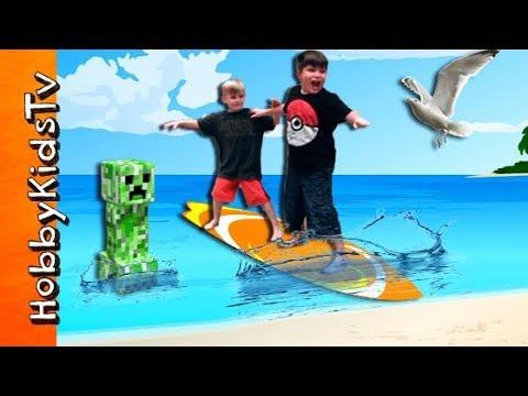 Surfing Funtime Story HobbyKidsTV