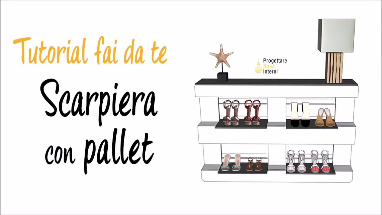 Come costruire una scarpiera fai da te con i pallet youtube for Panchine fai da te