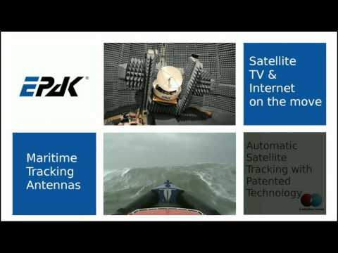 EPAK maritime satellite antennas tested at the most challenging sea conditions.