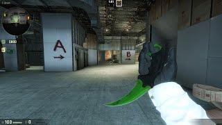 Bayonet FreeHand Karambit Esmerald CS:GO | CS 1.6