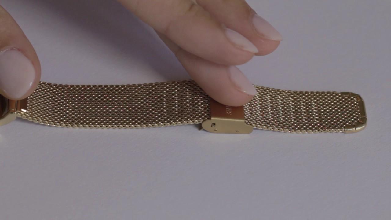 De Métal Montre Votre Milanaises Bracelet Meshmailles Comment Ajuster JcK1lTF