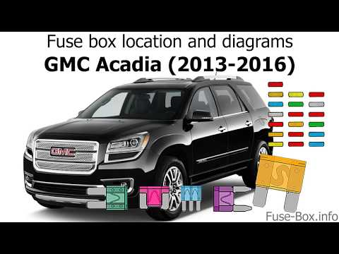[SCHEMATICS_4PO]  Fuse box location and diagrams: GMC Acadia (2013-2016) - YouTube | 2015 Gmc Acadia Fuse Diagram |  | YouTube