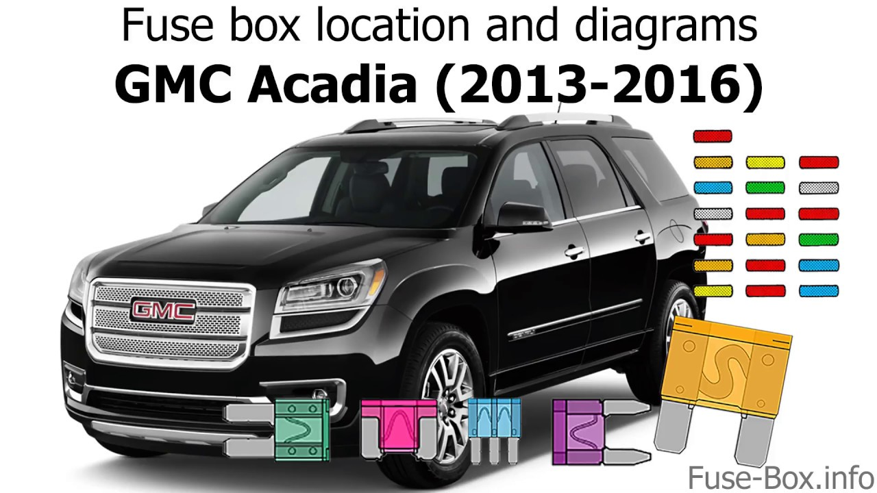 fuse box location and diagrams: gmc acadia (2013-2016)