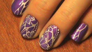 видео Яркие неоновые ногти «Спиральки»