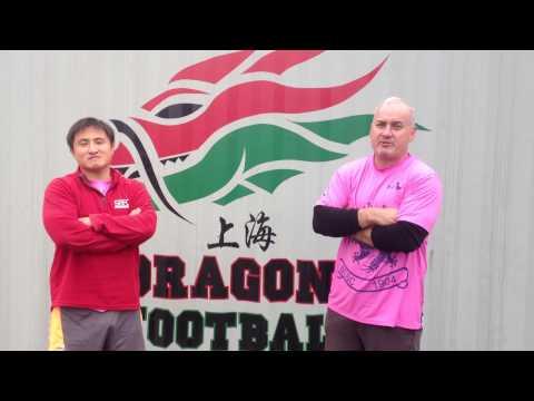 2014 Shanghai Dragons best wishes Ashely Jones & James King SCSC