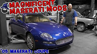 Maserati Modifications! The CAR WIZARD adds some really awesome performance mods to this 2005 Coupe!