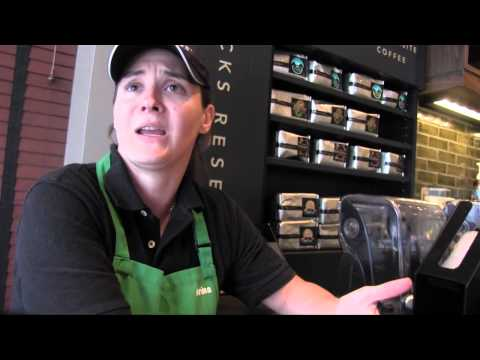 Barista Helps With Her Customer's Speaking Skills
