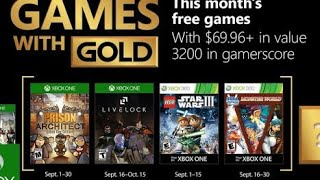 JOGOS DO GAME WITH GOLD DE SETEMBRO