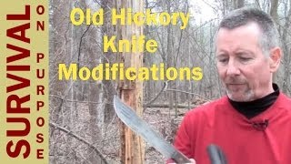 Old Hickory Butcher Knife Modifications