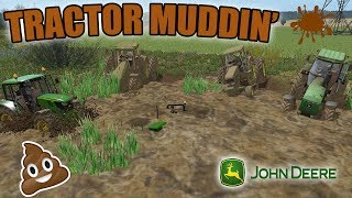 JD TRACTOR MUDDING | MUD PITS | MULTIPLAYER | FARMING SIMULATOR 2017
