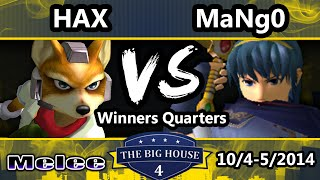 TBH4 - VGBC | Hax (Fox) Vs. C9 Mango (Captain Falcon, Marth) SSBM Winners Quarters - Smash Melee1