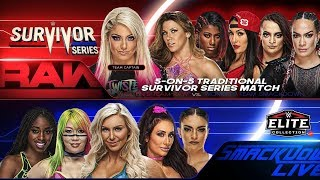 WWE SURVIVOR SERIES 2018 5 ON 5 TRADITIONAL SUVIVOR SERIES MATCH PSD Y PARTES BY Jika
