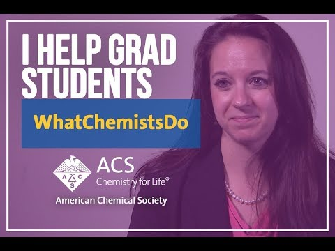 What Chemists Do - Margaret Grow-Sadler, Senior Education Associate, American Chemical Society