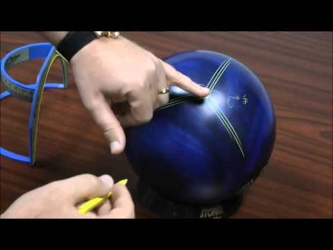 """bowlingball.com Two-Handed and No Thumb """"Triangle/Pyramid"""" Drilling Layout"""