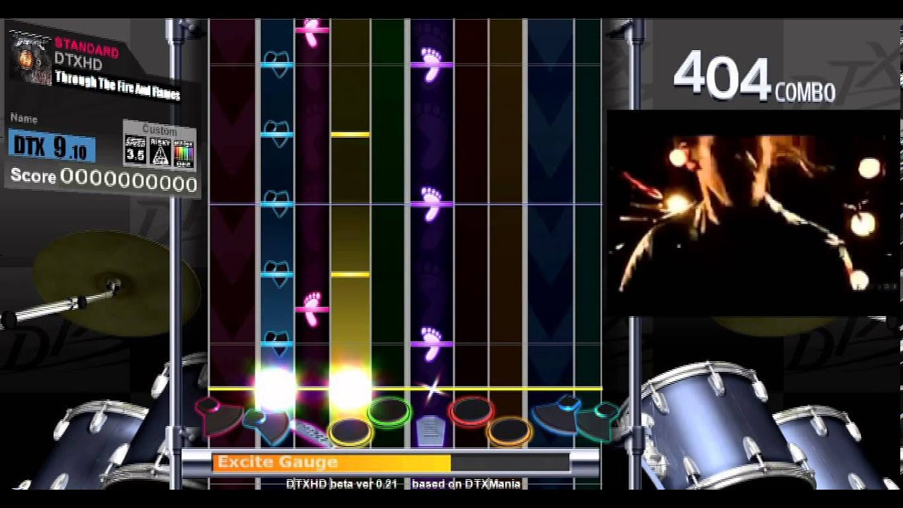 【DTXHD】 Through The Fire And Flames (EXPERT 9.15 ...Fire And The Flames Dragonforce