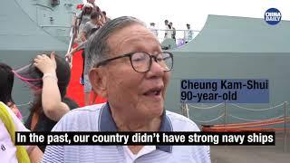 PLA Navy fleet arrived in Hong Kong