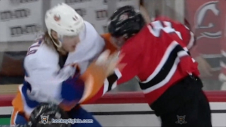 Scott Mayfield vs Miles Wood Feb 18, 2017