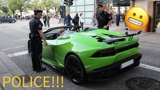 Lamborghini Huracan with Aero Kit gets in trouble with POLICE for to much REVVING!!