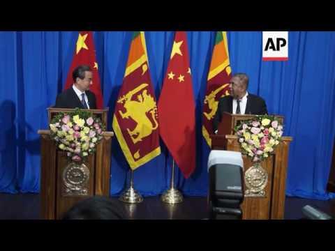 China's Wang meets Sri Lankan counterpart