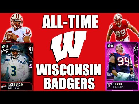 the latest 13f31 1bf55 All-Time Wisconsin Badgers! Russell Wilson and the Watt Brothers! Madden 18  Ultimate Team