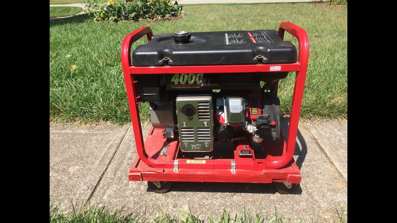 generac 4000xl portable generator gn 220 7 8hp engine won t start part i july 20 2015 [ 1280 x 720 Pixel ]