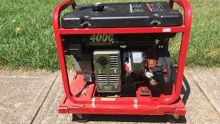 Generator won't start