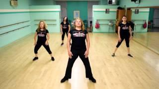 Zumba Dance Workout Fitness Routine Tutorial: Dark Horse - Katy Perry w/lyrics