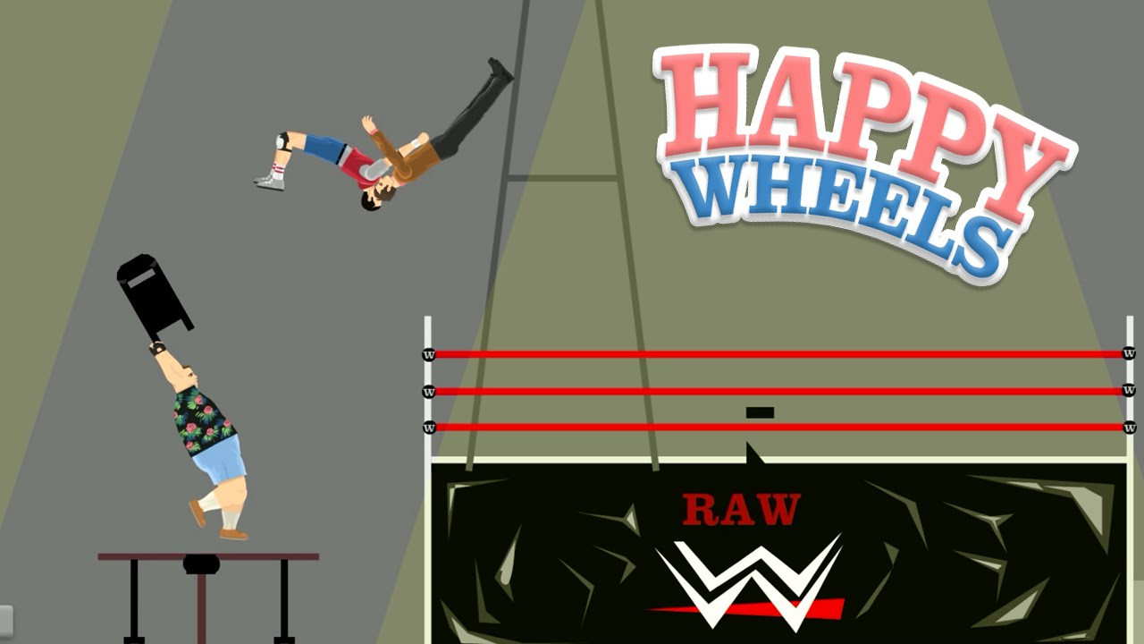 Happy Wheels Wwe Extreme Raw Part 344 Youtube