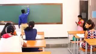 Chatting girl student with Butler English sir